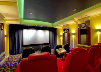Private movie theatre screening area
