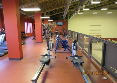 Rowing area in exercise room