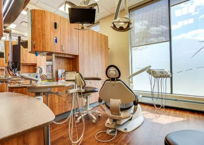 Dental operatory with large window view