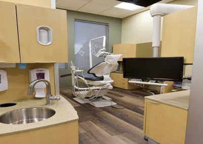 Dental operatory with hardwood floors