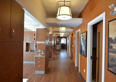 Hallway separating dental operatories