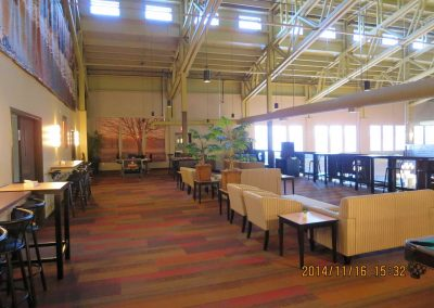 Second level commercial office seating area