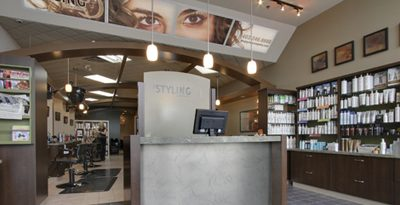Welcome desk at hair salon