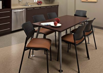 Kitchen table in staff lunchroom