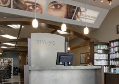 Front desk at hair salon