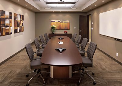 Commercial Office 4 Large Boardroom with Wooden Table and Chairs