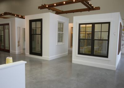 Individual window showcases at open concept window gallery