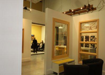 Open concept design at window gallery showroom