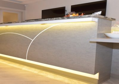 Commercial Reception 110 Custom Front Desk with Light Accents