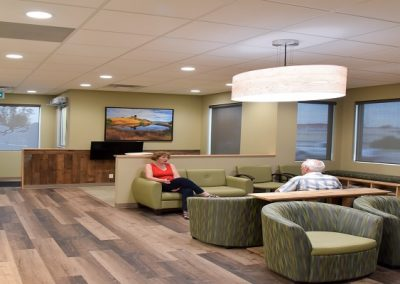 Commercial Waiting Room 104 Timberlands With Wooden Accents