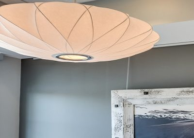 Soft light fixture hanging in waiting room