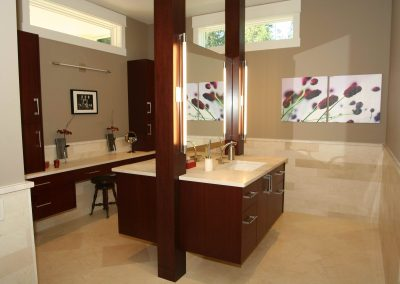 Residential Bathroom 4 Redesign of Ensuite Bathroom His and Hers Sinks
