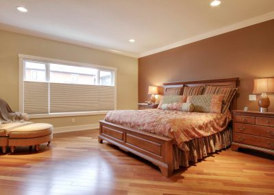 Residential Bedroom 2 Large Window and Hardwood Floors