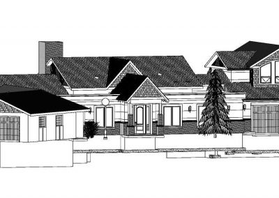 CAD Rendering of exterior residential home