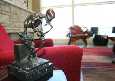 Residential Entertainment Space 18 Skeleton Artwork Scuplture