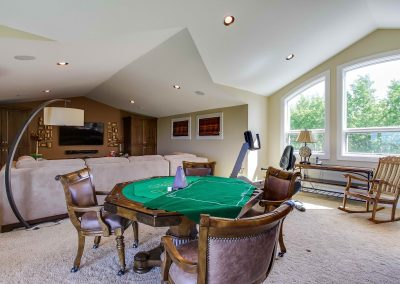 Residential Entertainment Space 22 Living Room with Poker Table