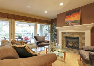 Residential Entertainment Space 24 Family Room with Stone Fireplace