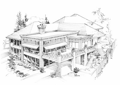 Residential Exterior 3 Sketches Calgary House
