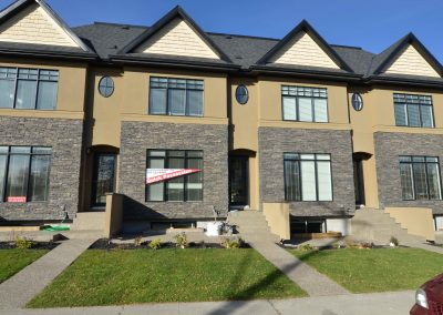 Newly built fourplex in Calgary