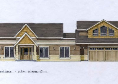 Sketch of custom home design exterior