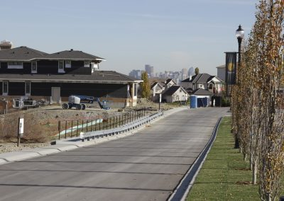 Main boulevard in new Calgary community, Patterson Heights