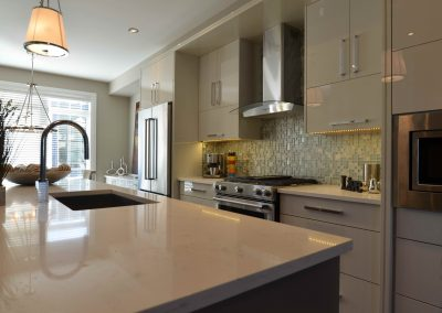 Residential Kitchen 14 Quartz Countertops and Modern Cabinets