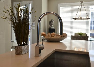 Modern kitchen design with deep kitchen sink