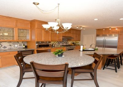 Granite top kitchen table matching granite countertops