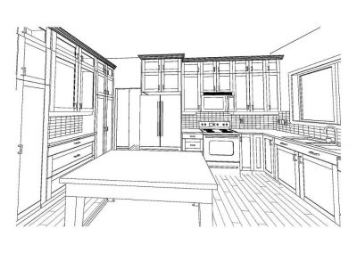 Computer design of kitchen