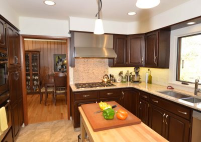 Residential Kitchen 54 Kitchen Renovation with Dark Wood Cabinets