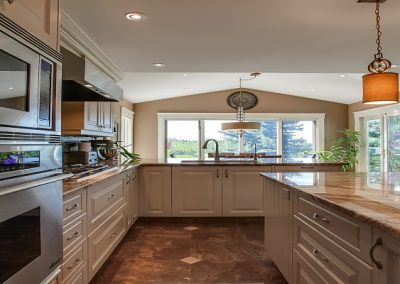 Residential Kitchen 60 Large Island with Custom Lighting
